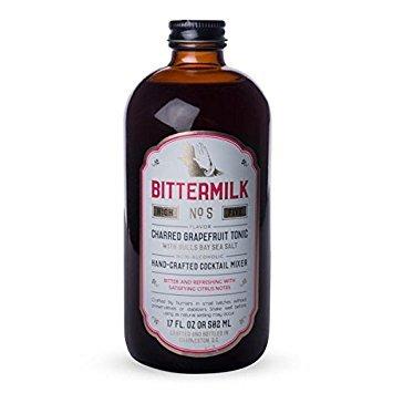 Bittermilk, Cocktail Mixer No 5 Charred Grapefruit Tonic, 17 Fl Oz