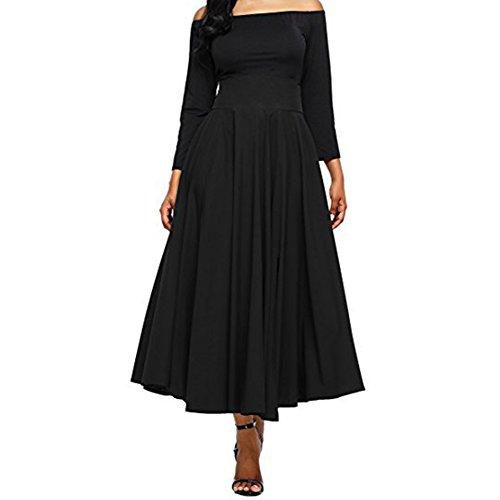 iBaste Moda Jupe vase plisse jupe plisse avec ceinture Noir