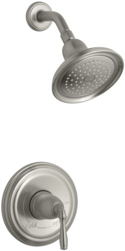KOHLER T396-4E-BN Devonshire Rite-Temp Pressure-Balancing Shower Faucet Trim without Valve, Vibrant Brushed Nickel
