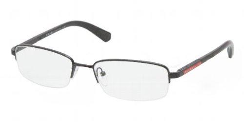 Eyeglasses Prada Linea Rossa PS 50CV 7AX1O1 BLACK DEMO - Prada Discount Eyeglasses