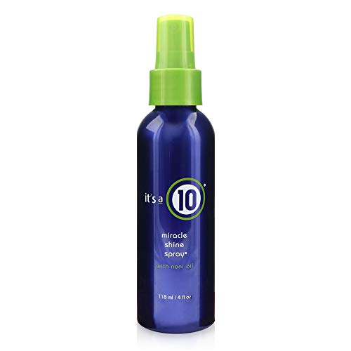 It's a 10 Haircare Miracle Shine Spray with Noni Oil, 4 fl. oz (Its A Miracle Dry Oil Spray)