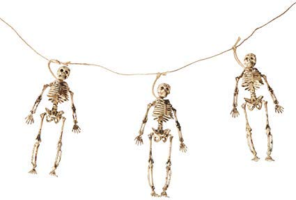 Spooky Skelton Cabinet of Curiosities Mini Skeletons Wall Garland Swag 1.8 meters / 5.9 feet