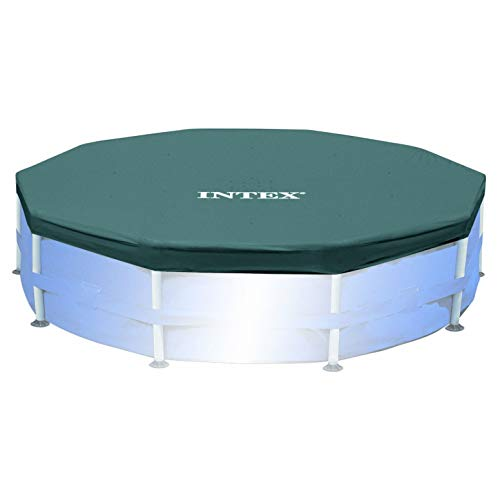 Intex Round Metal Frame Pool Cover, Blue, 10 ft