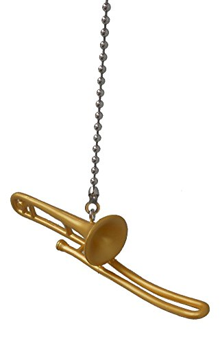 Musical orchestra band Instrument vinyl ceiling Fan Pull light chain (Trombone)