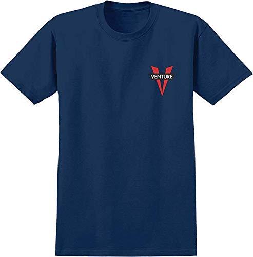 Venture Trucks Heritage V Navy/Red Men's Short Sleeve T-Shirt - Medium