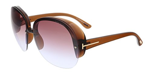 Tom Ford - MARINE FT 0458, Oversize, acetate, women, BROWN/BROWN GREY SHADED MIRROR(48Z A), - Sunglasses Ford Tom Celebrity