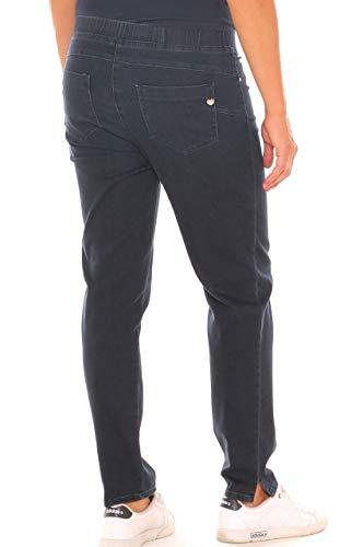 Carla Jeans sigaretta taglia in denim Ferroni stretch donna morbida con a Notte elastico Blu RqrRw5