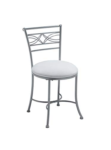 - Hillsdale Furniture 50941A Dutton Vanity Stool, Chrome