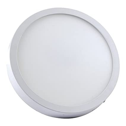 Alverlamp DL18PL60S - Downlight LED, 20W, 6000K, superficie redondo blanco, chip Led