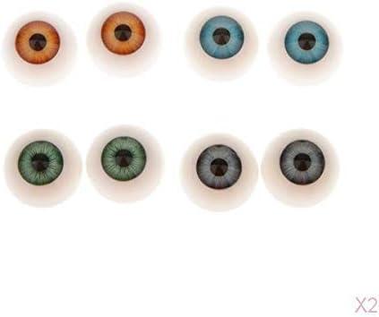 オーバル眼球 手作りの部品8個の半円形の中空アクリル人形目眼球の20MM DIYの人形の目マ スク