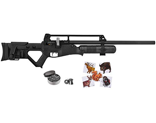 Hatsan Blitz Full Auto PCP Air Rifle with Included Wearable4U 100x Paper Targets and Lead Pellets Bundle