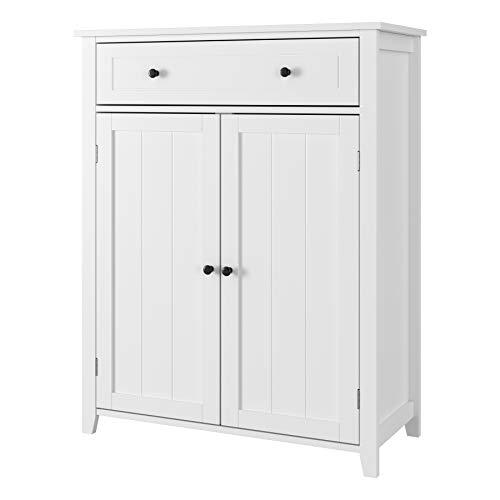 Homfa Bathroom Floor Cabinet, 31.5Lx13.8Wx39.4H inch Free Standing Large Side Cabinet Dresser Wooden Storage Organizer…