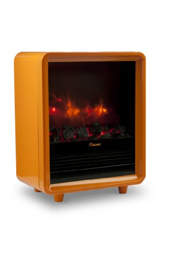 Crane USA Mini Fireplace Heater, Orange