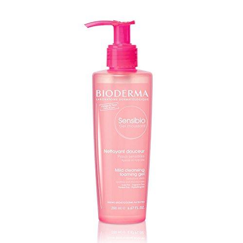 Bioderma Sensibio Micellar Gel de limpieza y eliminación de maquillaje para piel sensible, Bioderma Sensibio Foaming Facial Cleansing Gel for Sensitive Skin, 6.67 Fl. Oz.