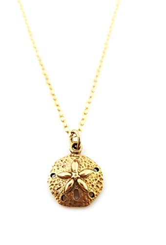 Sand Dollar Charm- Dainty 14k Gold Filled Necklace