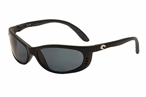 Costa Del Mar Fathom Sunglasses Matte Black/Grey - Costas Fathom