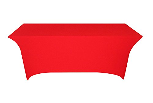 Rectangular Banquet Table Cover Spandex Fitted Stretch Tablecloth Red  sc 1 st  Amazon.com & Amazon.com: Tina 4 ft. Rectangular Banquet Table Cover Spandex ...
