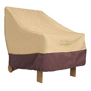 PICTURESQUE 2pcs Funda Protectora para Sillón Oxford Fundas para Muebles de Sillón de Jardín Impermeable Resistente al Desgarro Camel S