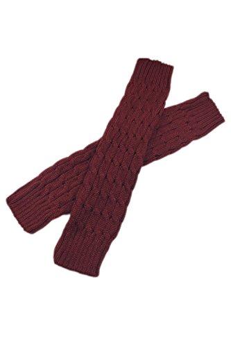 Femmes Chaussettes Longues Couvrir En Botte Jambières Wine Yacun Hiver Les 4wqqCa