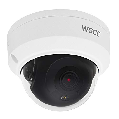 - WGCC POE IP Camera Dome HD 4MP H.265 2.8MM Lens Onvif Outdoor Security Camera with 98ft IR Night Vision, Remote Viewing, IP66 Waterproof CCTV Camera for Outdoor and Indoor