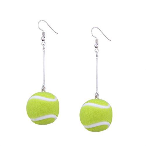 Earring , Vanvler 1 Pair Women Tennis Basketball Ball Sport Ear Studs Novelty Dangle Earrings Jewelry Gift (Novelty Earrings)