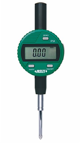 INSIZE 2115-25F Waterproof Digital Indicator, Flat Back, Ip54, Resolution 0.01 mm/0.0005', 25.4 mm/1'