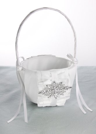 Isabella Flower Girl Basket White by RaeBella Weddings & Events New York