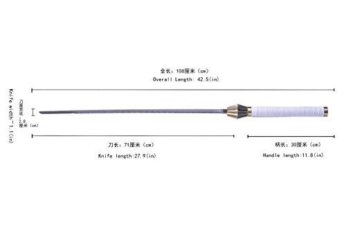 Swords ValleyJapanese Anime Bleach Straight knife of Kenpachi Zaraki White Scabbard