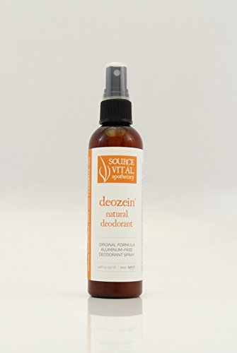 Deozein Natural Deodorant by Source Vitál Apothecary, Aluminum Free, All Natural Deodorant Spray for Men and Women (4.46 Fluid Ounces) (All Natural Spray)
