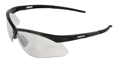 Radnor Premier Series Safety Glasses With Black Frame And Clear Polycarbonate Indoor/Outdoor ()