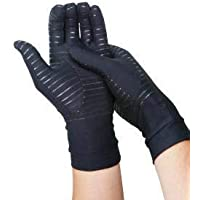 COPPER HEAL Arthritis Compression FULL HAND Gloves - BEST Medical Copper Gloves GUARANTEED to work for Rheumatoid Arthritis, Carpal Tunnel, RSI, Osteoarthritis & Tendonitis