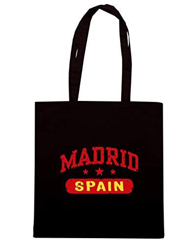 Speed Shirt Borsa Shopper Nera TSTEM0186 MADRID SPAIN