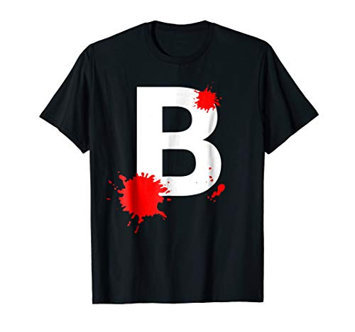 Letter B Halloween Costume Tee for Zombies or Zombees -