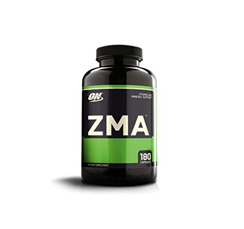 (OPTIMUM NUTRITION ZMA Muscle Recovery and Endurance Supplement for Men and Women, Zinc and Magnesium Supplement, 180 Capsules)