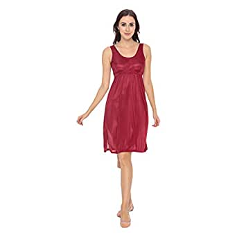 Cotton World Nightgown For Women - Xl, Red