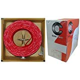 Shielded Fire Alarm / Security Cable, Red, 18/2 (18 AWG 2 Conductor), Solid, FPLR, Pullbox, 1000 foot