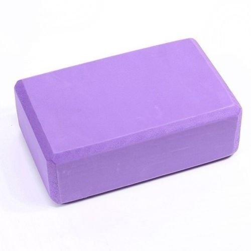 Yoga Block Brick Foaming Foam Home Exercise Practice Tool Purple