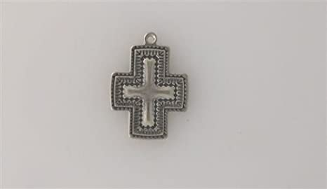 925 Sterling Silver Cross Charm Pendant 35mm x 19mm
