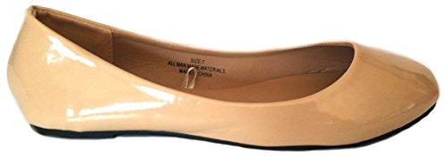 Shoes8teen Skor 18 Womens Ballerina Balett Platta Skor Fasta Och Leoparder ... 1800 Patent Naken