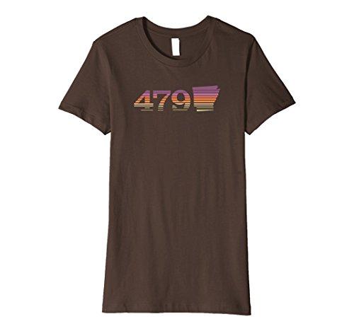 Womens 479 Arkansas Sunset Gradient Premium T Shirt Xl Brown