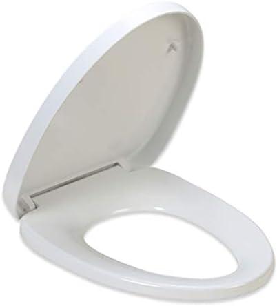 白い楕円形のトイレの蓋、V字型のパッド入り便座、尿素ホルムアルデヒド樹脂素材のスロークローズクイックリリースが簡単で、家、ホテル、レストランのトイレに使用できます