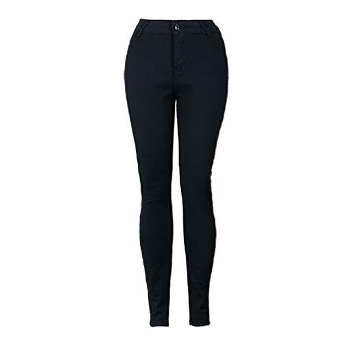 De Moontang Negros Ajustados Slim color Tamaño Ocasionales Cintura Negro Alta Elásticos Xl Mezclilla Negro Pantalones Fit Pitillo Erq0CwxSq