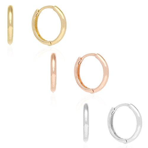 14k Gold Hoop Earrings 12mm Hi
