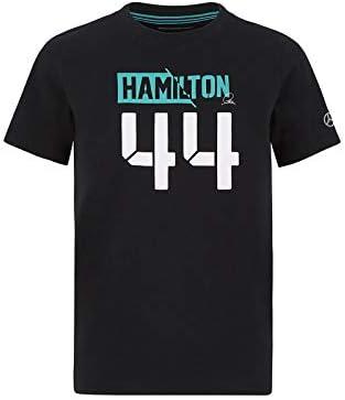 Cotton Mercedes-AMG Petronas Official Formula 1 Merchandise 2020 Lewis Hamilton 44 T-Shirt Kids Black