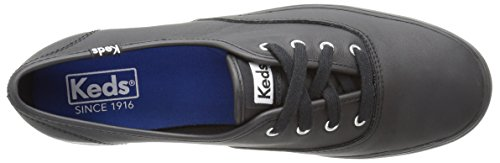 Keds Women's Triple Leather Fashion Sneaker Black/Black quality outlet store zxneDcV