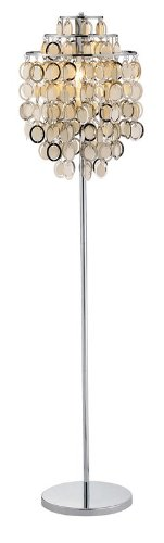 "Adesso 3637-22 Shimmy 64"" Floor Lamp, Chrome"