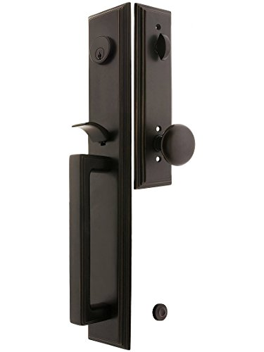 Melrose Style Tubular Handleset in Oil Rubbed Bronze with Providence Knobs and 2 3/8