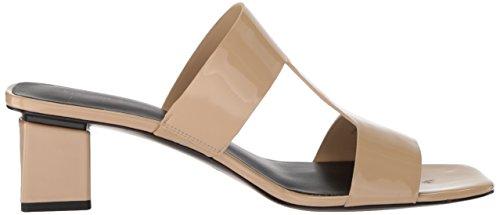 Via Spiga Kvinders Florence Blok Hæl Dias Sandal Sand Patent qJonZ2FBC