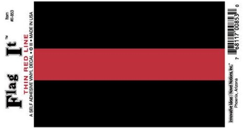 Thin Red Line decal for auto, truck or boat