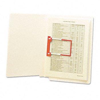 Smead® Heavyweight Manila Reinforced End Tab Folders With U-Clip FOLDER,ET,U-CLIP,LTR,MLA (Pack (Heavyweight Manila End)
